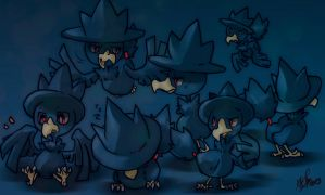 PKMN-Murkrow by Mikoto-chan
