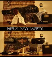 Imperial Navy Laspistol by JDAtrocityExhibition