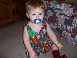 Marvel Comics Baby Romper Sewing Projects by annjepsen