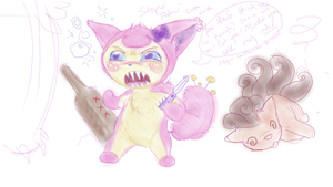 more angry drunk skitty by lifeofalimabean