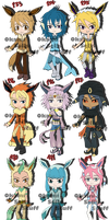 Eeveelution Adopts: OTA [CLOSED] by OkamiSellsStuff