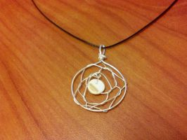 Simple Dream catcher Necklace For Sale by FlutterByye