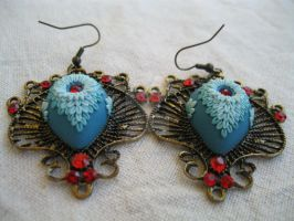 Dragon Eye Earrings by LenaHandmadeJewelry