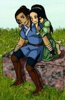 Sokka and Toph by Mikha