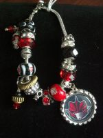 Bling Knockout Bottle Cap Bracelet by Laserbot