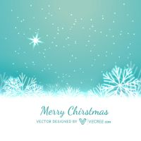 Beautiful Merry Christmas Snowflakes Design Free V by vecree