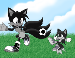 Merrick and Seiki: soccer time by S-fireLex