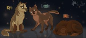 Kye Lexie and Mic by DawnFrost