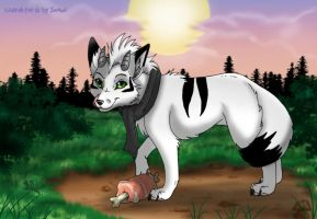 ArtTrade with Snowi by RukiFox