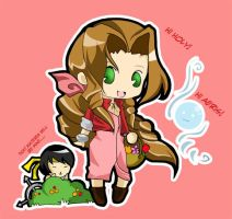 aeris and holy by tachiik