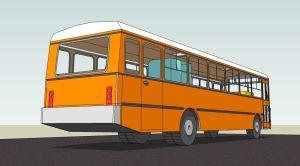A bus in 3D by Ludo38