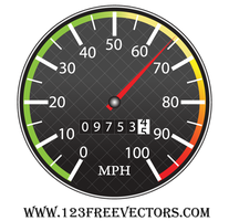 Free Speedometer Vector by 123freevectors