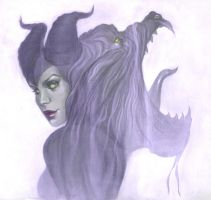 Maleficent by Jenny Frison by AshcanAllstars