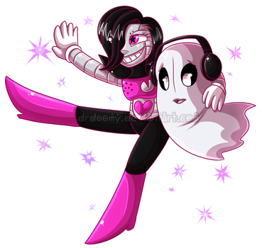 Mettaton and Napstablook by DrDoomy