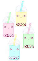 Sweet Bubble Tea MERCH AVAILABLE by Squishy-Feathers