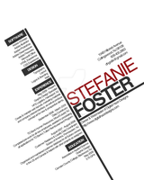 Typography Resume by LadyRagefist