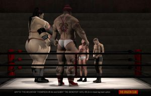 Super heavyweight mixed tag team wrestling - 01 by theamazonclub