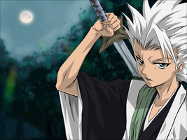 Toshiro Hitsugaya Coloured by SupaKashy