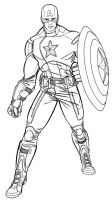 Avengers movie Captain America by jet2022