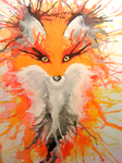 Watercolour Fox by Brittany-Purcell