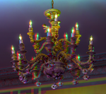 Chandelier at Casa Loma 3-D ::: HDR/Raw Anaglyph^ by zour