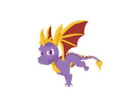 Freehanded Spyro by GreyScale9