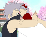 Kakashi and his daughter asuka by XXAsukaHatakeXX
