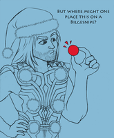 Christmas Thor by Melfina-chan