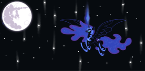 nightmare moon and the moon by PINKYPIE4522