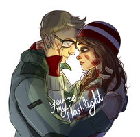 Until Dawn - Chris and Ashley by hansideburns