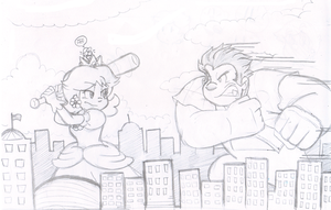Commish: We're wrecking the city! by Nintendrawer