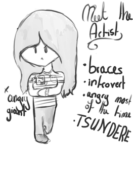 Meet the artist meme - sketch form by Patchedeye