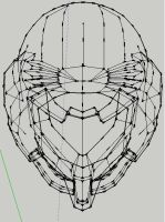 samus helm wireframe by adventchildmatrix