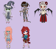 Adopt .:Halloween set:. CLOSED. by CherriSummer