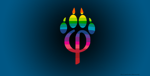 Phipaw blk blu gay furry pride by TheCoyoteFeather