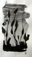 Abstraction in ink #5 by Flutingspirit