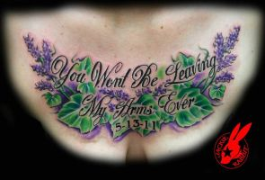 Ivy and Lavender Chest Piece by Jackie Rabbit by jackierabbit12