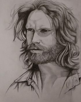Jim Morrison sketch by Maheen-S
