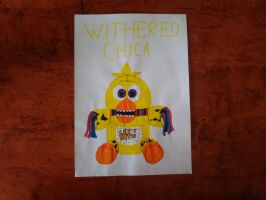 [FM] Fnaf Funko Plush Withered Chica by RedtheRedBird
