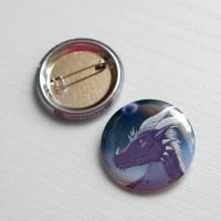 Commisison: AzureParagon button by Samantha-dragon