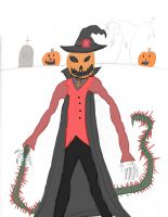 My Pumpkin Prince Form Redesigned Colored by cursedironfist7