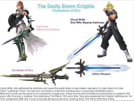 FF7xFF13: Cloud Strife and Lightning as Knights by DWN966KuruMan