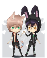 Gift: Chibi - Toma and Jaze by Jenova87