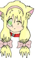 My neko girl lineart coloured by Obake-no-Kage