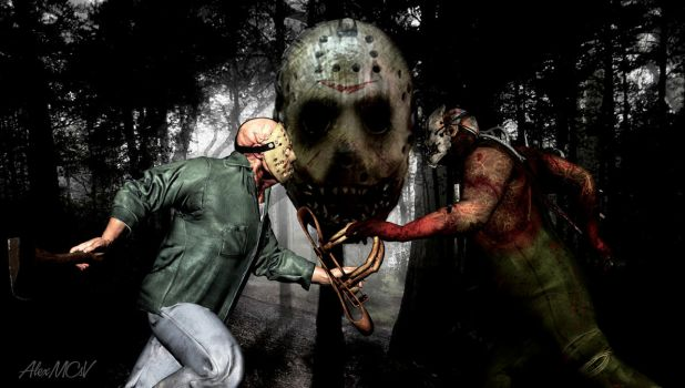 JASON VOORHEES VS THE TRAPPER by AlexMCsV