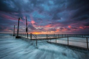 sunrise at Mona Vale rock pool by wai-cheong