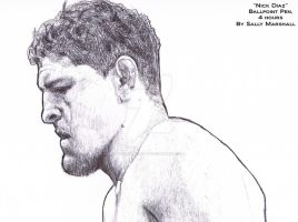Nick Diaz Portrait by SallyDoesArts