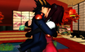 MMD Faithshipping kiss by Eripmav-darkness
