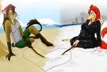 ...in sand and snow by doggygirl356