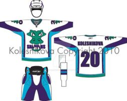 Snappers Hockey Away Uniform by barefootink
